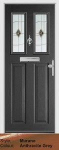 Fortrezz Door Murano Anthracite Grey