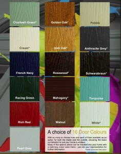 Fortrezz door colour options